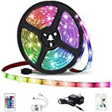 HaoDeng LED Light Strip RGB Strip Lights LED Tape Lights Compatible with Alexa and Google Home, Comes with 16.4ft IP65 5050 R