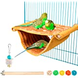 Bird Nest House Winter Warm Parrot House Bed Hammock Tent Toy Bird Cage Perch Stand for Parrots Budgies Parakeet Cockatiels L
