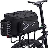ROCKBROS(ロックブロス)自転車 リアバッグ 大容量 パニアバッグ ショルダー フレームバッグ 9-12L拡張可能 防水カバー付き 撥水 仕切り調節可能