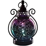 Valery Madelyn Christmas Candle Lantern Holder Mercury Glass Sphere Light Led Orb Lamps for Indoor Outdoor Decoration 6 Diame