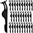 Elcoho 30 Pieces False Eyelashes Applicator Tool Stainless Steel Eyelash Extension Tweezers Remover Clip Tweezers Nipper with