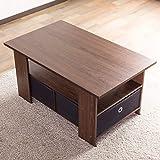 システムK センターテーブル 収納ボックス付 木製テーブル ローテーブル 幅80cm ブラウン