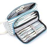 XINGW ペンケース 大容量 ペンポーチ 多機能 筆箱 学生用文房具収納ポーチ(ストライプ)