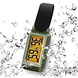 ドリテック(dretec) 温湿度計 ブライン 防滴 熱中症/インフルエンザ警告レベル表示 時計機能 バックライト ポータブル O-299GNDI グリーン