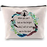 G2TUP Inspirational Alice in Wonderland Quote Makeup Cosmetic Bag Zipper Pouch Alice in Wonderland Accessories for Women (Ali