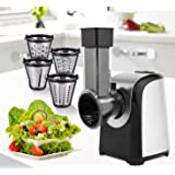 Automatic Electric Slicer Shredder Professional Salad Maker Machine with One-Touch Control and 4 Free Attachments for fruits,