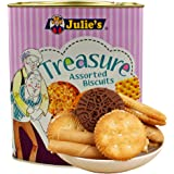 Julie's Treasure Assorted Biscuits Biscuits Tin, 530g