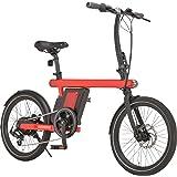 カノーバー(CANOVER) 電動アシスト自転車 ミニベロ 20インチ 7.8Ah 6段変速 FR-Z1 レッド 47107