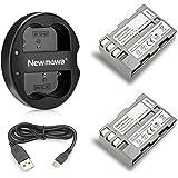 Newmowa EN-EL3E 互換バッテリー 2個+充電器 対応機種 Nikon EN-EL3E Nikon D50…