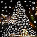 TMCCE 232 Piece Christmas Snowflake Window Decal Stickers - Xmas Holiday White Winter Christmas Window Decorations Ornaments
