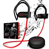 【Newest 2020】 Villain Bluetooth Headphones for Running Gym Workout - Wireless Sport Earbuds with aptX HiFi Sound & Clear Thum