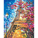 DIY 5D Diamond Painting by Number Kit, Painting Cross Stitch Full Drill Crystal Rhinestone Embroidery Pictures Arts- Romantic