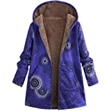 Howme-Women Cashmere Sweater Zip-up Outwear Hooded Navajo Floral Anorak Jacket