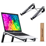Portable Laptop Stand, DesertWest Laptop Stand for Desk Foldable Ergonomic Laptop Lift Adjustable Height Stable Computer Rise
