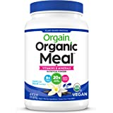 Orgain Organic Plant Based Meal Replacement Powder, Vanilla Bean - 20g Protein, Vegan, Dairy Free, Gluten Free, Lactose Free,