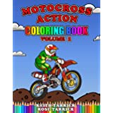 Motocross Action Coloring Book Volume 1