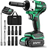 KIMO 20V 1/2 Impact Wrench, Cordless Brushless Impact Wrench Set 250 Ft-lb High Torque 3000 RPM, Li-ion Battery Fast Charger