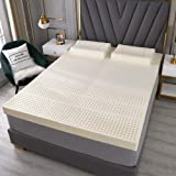 5cm Thick Latex Mattress Topper, Soft, Breathable, Seven Partitions, Anti-Bacterial, Anti-Mite, High-Speed Rebound, Mattress