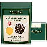 VAHDAM, Kashmiri Kahwa Tea Loose Leaf (50 Cups)   100% NATURAL SPICES   Masala Chai Tea   Green Tea, Cinnamon, Cardamom, Alm