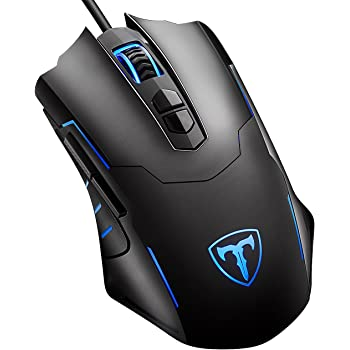 Qtop ゲーミングマウス 光学式 マウス 500~7200dpiまで5段調節 7ボタンカスタマイズ・マクロ設定可能 ブラック 【日本語説明書付き・12ヶ月保証付き】
