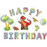 HOUZE LS-9435 Dinosaur Happy Birthday Foil Balloon Set