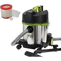 ミナト 乾湿両用掃除機 バキュームクリーナー MPV-201 《替えフィルターセット》 (容量20L/吸水8L)