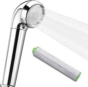 サモドラ シャワーヘッド 強力塩素除去 節水 高水圧 低水圧 増圧 浄水 活性炭フィルター 1本入り 消臭 除塩素シャワー アダプター付 SPW-201C