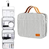 Hanging Travel Toiletry Bag,Large Capacity Cosmetic Toiletry Travel Organizer for Women/Men with 4 Compartments & 1 Sturdy Ho