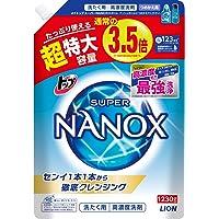 【大容量】トップ スーパーナノックス 蛍光剤・シリコーン無添加 高濃度 洗濯洗剤 液体 詰め替え 超特大1230g