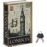 Jssmst Diversion Book Safe with Key Lock, Secrect Hidden Safe Lock Box Large 2019, SM-BS019LN London Bridge