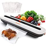 AUSELECT Vacuum Sealer Machine, Automatic Food Sealer Machine with 20Pcs Vacuum Bags, (White)