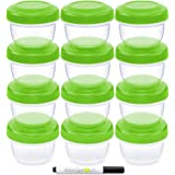 WeeSprout Leakproof Baby Food Storage - 12 Container Set, Small Plastic Containers with Lids, Lock in Freshness, Nutrients, &