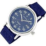 [ラドウェザー] 腕時計 メンズ 電池不要のソーラー搭載 ミリタリーウォッチ メンズ レディース 時計 (06.ネイビー×ネイビー)