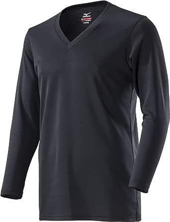 [Mizuno] アンダーウェア ブレスサーモ Vネック長袖シャツ C2JA8610 メンズ ブラック 日本 S (日本サイズS相当)