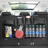 Aiydachy Car Boot Organiser Waterproof Kick Mats Car Organiser Seat Back Protectors, Multi-Pocket Children's Travel Storage,
