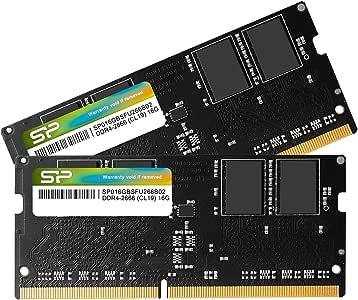 シリコンパワー ノートPC用メモリ DDR4-2666(PC4-21300) 16GB×2枚 260Pin 1.2V CL19 Mac対応 永久保証 SP032GBSFU266B22