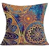 Fukeen African Women Beauty Throw Pillow Cases Tribe Lady Portrait Decorative Standard Cushion Cover Cotton Linen Home Sofa D