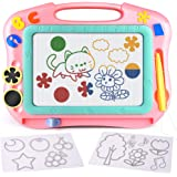 FLY2SKY Magnetic Drawing Board Kids Magna Doodle Board Travel Size Toddler Toys Sketch Writing Colorful Erasable Sketching Pa