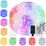 StarryEver Multi Color Changing Fairy Lights USB with Remote Control, Decorative Silver Wire String Lights for Christmas Tree