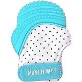 Malarkey Kids Munch Mitt Sensory Teething Mitten, Aqua Blue