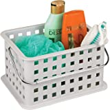 "InterDesign Storage Organizer Basket, for Bathroom, Health and Beauty Products - 9.25"" x 7"" x 5"", Light Gray"