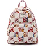 Loungefly Disney Princess Sidekicks Rose Checkered AOP Womens Double Strap Shoulder Bag Purse