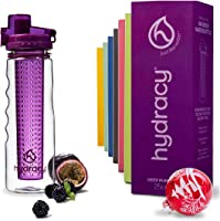 Hydracy Fruit Infuser Water Bottle - 25 Oz Sports Bottle with Full Length Infusion Rod and Insulating Sleeve Combo Set +...