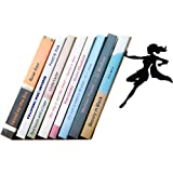 Artori Design Supergal Black Metal Female Superwoman Bookend Unique Bookends Gifts for Girls Gifts for Book Lovers Cool Book