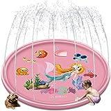 """Splash Pad Sprinkler Pad Splash Play Mat 68"""" Outdoor Water Toys, Outdoor Sprinkler for Kids,Kids Pool,Mermaid"""