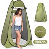 Pop Up Privacy Tent - Instant Portable Outdoor Shower Tent, Camp Toilet, Changing Room, Rain Shelter with Window - for Campin