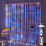 Honche 300L Led Curtain String Lights USB with Remote for Bedroom Wedding (Multi Color)