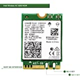 Wireless Network Adapter for Laptop and Desktop PCs?NGFF M2 2230 Wi-Fi Card-2.4GHz 300Mbps or 5GHz 1733Mbps(160MHz) Bluetooth