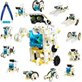 13-in-1 Solar Robot Toy with Plier, STEM Toys Robots for Kids 8 9 10 11 12+, DIY Science Toy Solar Powered Building Robotic S