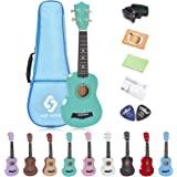 "21"" Soprano Ukulele with a Carrying Bag and a Digital Tuner, Specially Designed for Kids, Students (Light Green)"